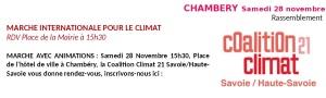 marche climat 73 74 Chambéry 28 novembre 2015