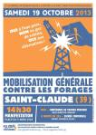 Saint Claude 19 octobre 2013 schiste frackdown