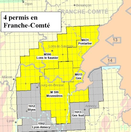 La franche comté gaz de schiste les permis de recherche hydrocarbures liquides ou gazeux