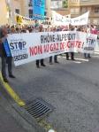 Saint Claude Franche Comte manifestation Stop gaz de schiste Rhône Alpes