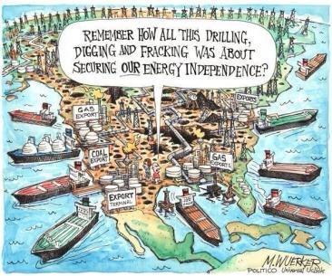 USA export hydrocarbures et charbon