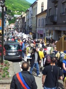 Manifestation non gaz de schiste bellegarde