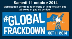 global frackdown 11 octobre 2014 -