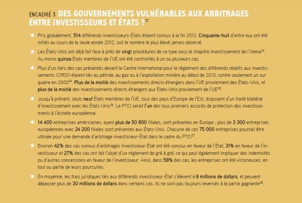 DES GOUVERNEMENTS VULNÉRABLES AUX ARBITRAGES ENTRE INVESTISSEURS ET ÉTATS
