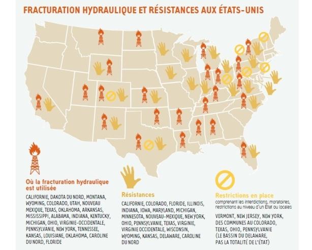 fracturation hydraulique et résistances aux Etats-Unis fracking