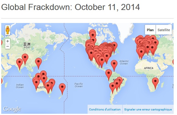 globalfrackdown 11 octobre 2014 global map