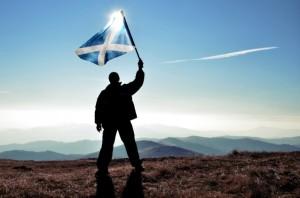 Ecosse drapeau stop gaz de schiste moratoire