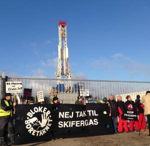 Occupation tour de forage TOTAL Gaz de schiste Skifergas DANEMARK Greenpeace 4
