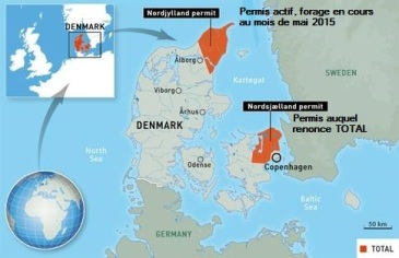 Danemark permis gaz de schiste auquel renonce TOTAL