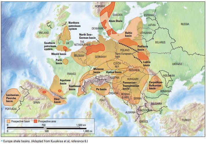 en europe  le gaz de schiste   situation par pays