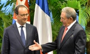 François Hollande à CUBA