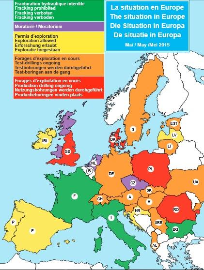 Gaz de schiste et fracking en Europe