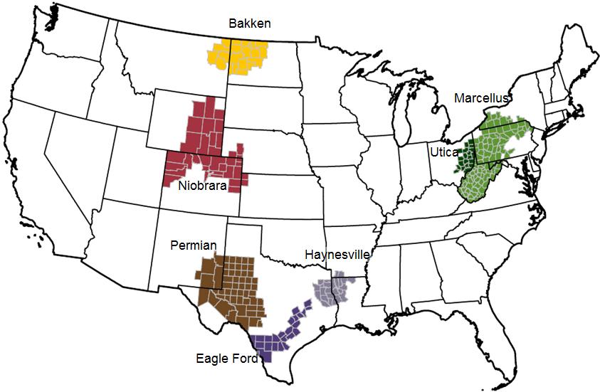 """Résultat de recherche d'images pour """"carte bassin de production de pétrole USA"""""""