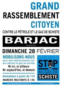 stop gaz de schiste affiche rassemblemnt barjac 28 fevrier 2016