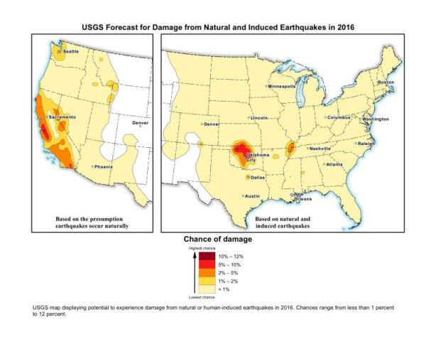 yellow-map-chance-of-earthquake-oklahoma seisme gaz de schiste