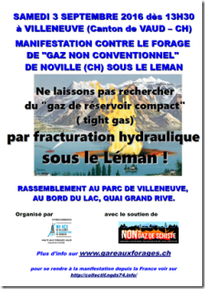 manif non forage gaz non conventionnel villeneuve noville suisse 3 septembre 2016